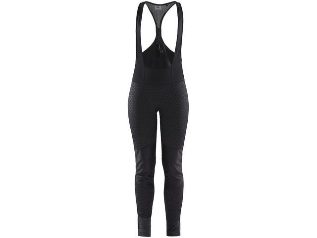 Craft Ideal Pro Spodnie przeciwwiatrowe na szelkach Kobiety, black/print intersect